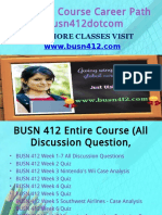 BUSN 412 Course Career Path Begins Busn412dotcom