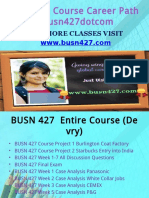 BUSN 427 Course Career Path Begins Busn427dotcom