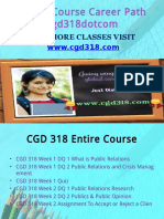 CDG 318 Course Career Path Begins Cgd318dotcom