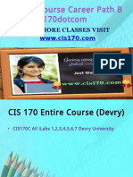 CIS 170 Course Career Path Begins Cis170dotcom
