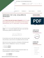 Colors in Spanish - Los Colores en Español _ Spanish Podcast