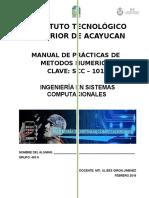 Manual de Practicas de Metodos Numericos SCC - 1017 (2015)