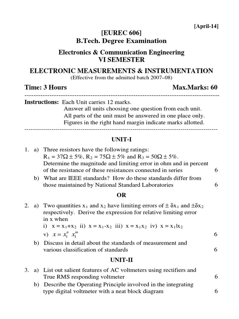 Electronic Measurements Instrumentation Telecommunications Electronics And Communication Engineering Block Diagram Of Signal Processing