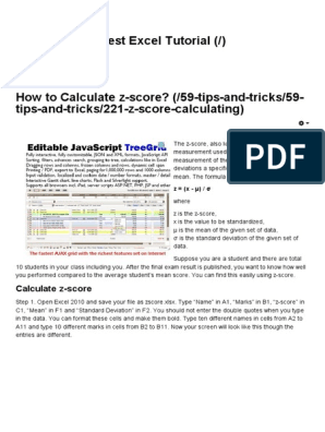 Best Excel Tutorial - How to Calculate Z-score | Standard