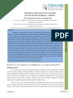 3. Ijbmr - Impact of Emotional Intelligence on Academic