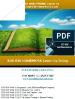 BUS 630 HOMEWORK Learn by Doing/bus630homework.com