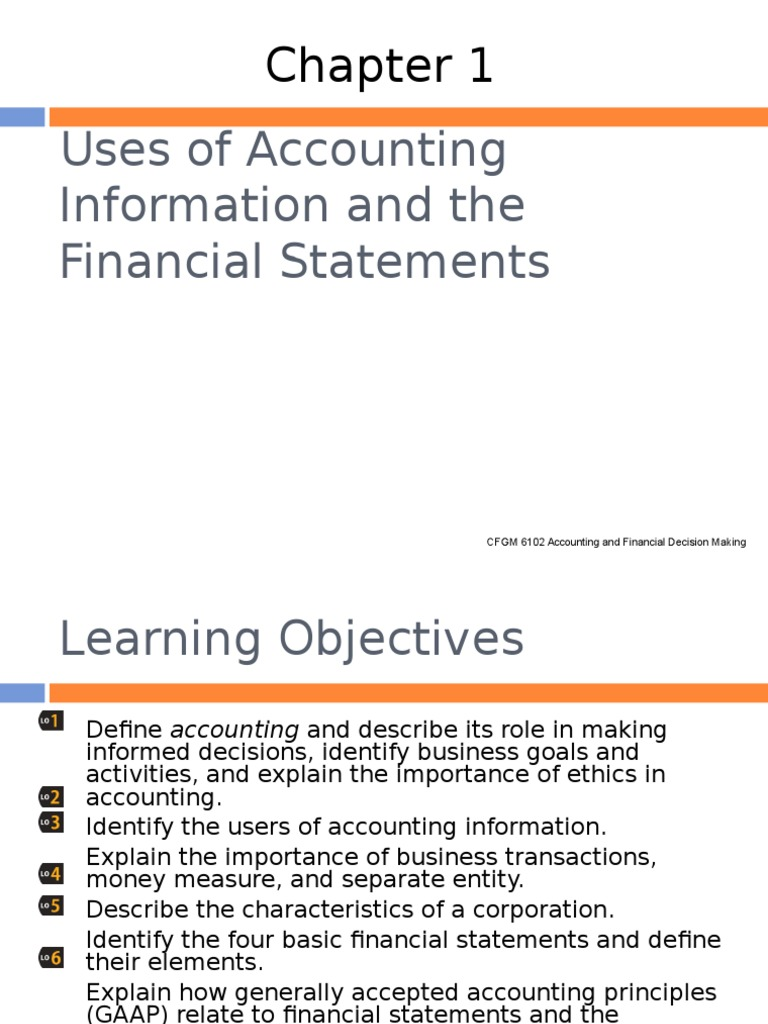 define the purpose of accounting and identify the four basic financial statements