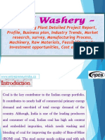 Coal Washery - Manufacturing Plant Detailed Project Report, Profile, Business plan, Industry Trends, Market research, survey, Manufacturing Process, Machinery, Raw Materials, Feasibility study, Investment opportunities, Cost and Revenue