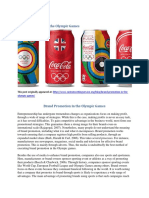 Brand Promotion in the Olympic Games
