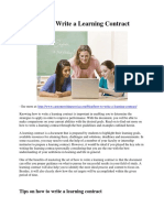 How to Write a Learning Contract.pdf