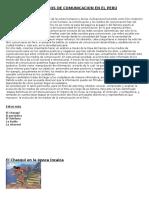 Los Medios de Comunicacion en El Perú