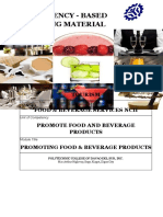 promote food and beverage products