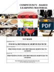 Provide food and beverage services to guests