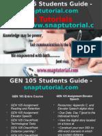 GEN 105 Slingshot Academy/snaptutorial