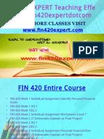 FIN 420 EXPERT Teaching Effectively Fin420expertdotcom