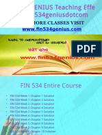 FIN 534 GENIUS Teaching Effectively Fin534geniusdotcom