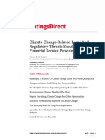 Climate Change-Related Legal and Regulatory Threats Should Spur Financial Service Providers to Action 04.05.2016