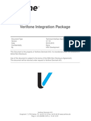 Verifone Integration Package 37 | Non Disclosure Agreement