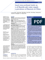 A National Cross-sectional Study on Effects of Fluoride-safe Water Supply on the Prevalence of Fluorosis in China