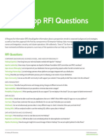 24 Hadoop RFI Questions