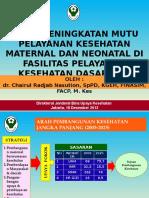 Seminar 18 Desember 2012 Upaya Peningkatan Mutu Yankes Maternal Neonatal Di Fasyankes Dasar Dan Rujukan