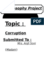 Project On Corruption