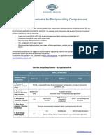 Design Requirements for Reciprocating Compressors