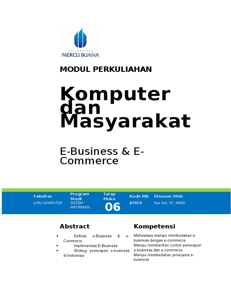 6 E Commerce Electronic Business E Commerce