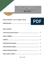 Agenda 5-10-2016