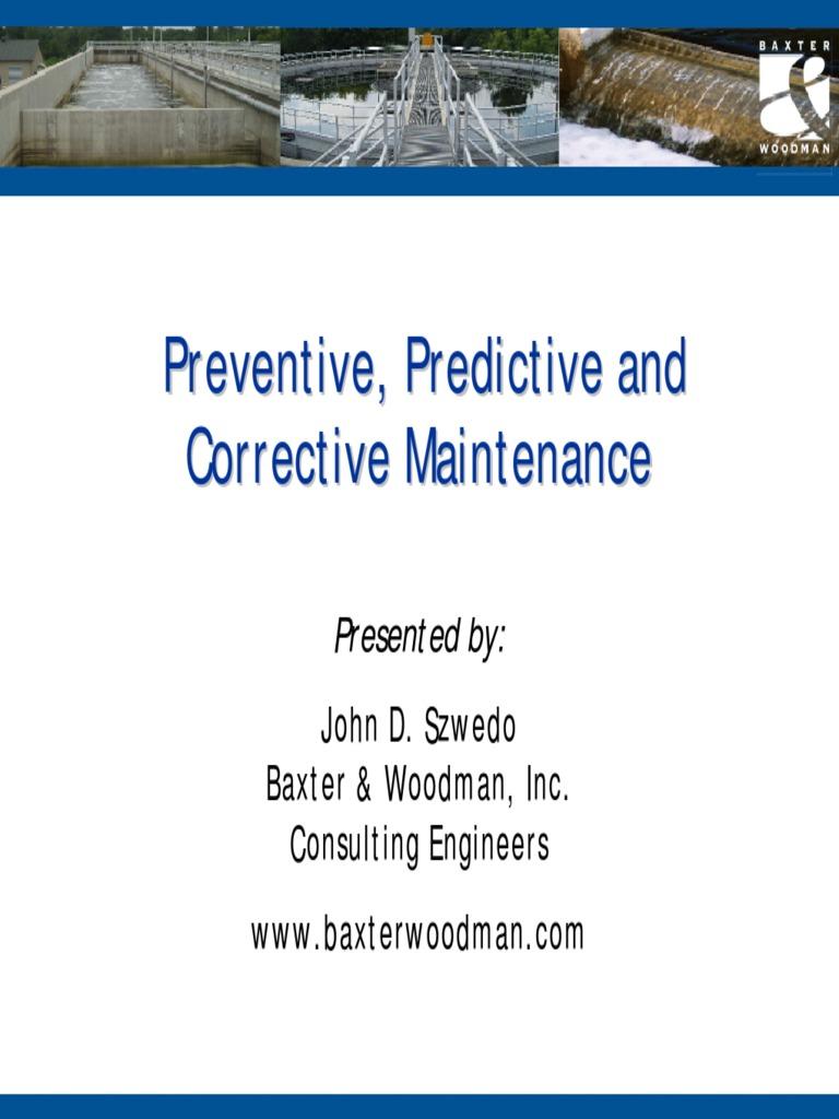 preventive  predictive  and corrective maintenance pdf