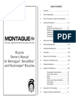 ARCHIVE Montague Owners Manual