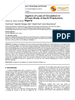 Geophysical Investigation of Loss of Circulation in borehole drilling
