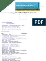 Maçons Famosos Brasileiros - Lista Parcial