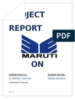 Project Report on Maruti
