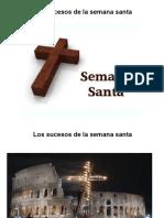 Cronologia de Los Sucesos de La Semana Santa