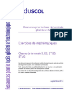 Ressources Lycee T S ES STI2D STMG Exercices Math
