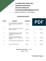Plan de Evaluacion Explotación de Hidrocarburos (Semestre I-2016)