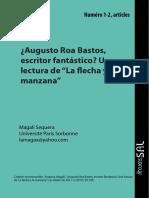 Sequera, Magalí (2012) - Augusto Roa Bastos, Escritor Fantástico. Una Lectura de _La Flecha y La Manzana