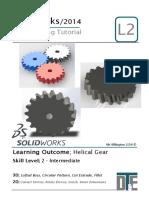 8. Solidworks Tutorial - Helix Gear