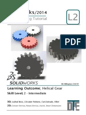 8  Solidworks Tutorial - Helix Gear   Gear   Rotation Around