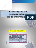 Estrategías de Procesamiento de La Información