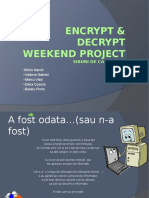 Encrypt & Decrypt Weekend Project