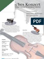 Klassisches Konzert mit Michael Wieck und Christa Stolzenburg