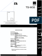 Subwoofer Aiwa_ts-w35 - Manual de Serviço