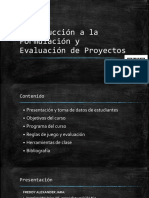 1. Introducción a la Formulación y Evaluación de Proyectos