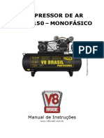 Manual Compressor de Ar v8!15!150l Monofásico Vs1