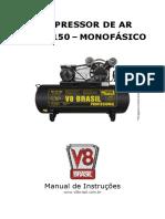Manual Compressor de Ar v8!15!150l Monofásico Vs1
