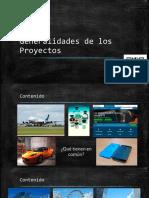 2. Generalidades de Los Proyectos