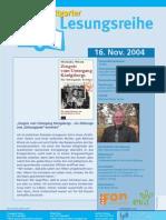 Michael Wieck liest in der Stuttgarter Lesereihe