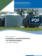 Investitions Und Betriebskosten Von Kleinklaeranlagen